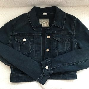 Levi's crop denim jacket Small